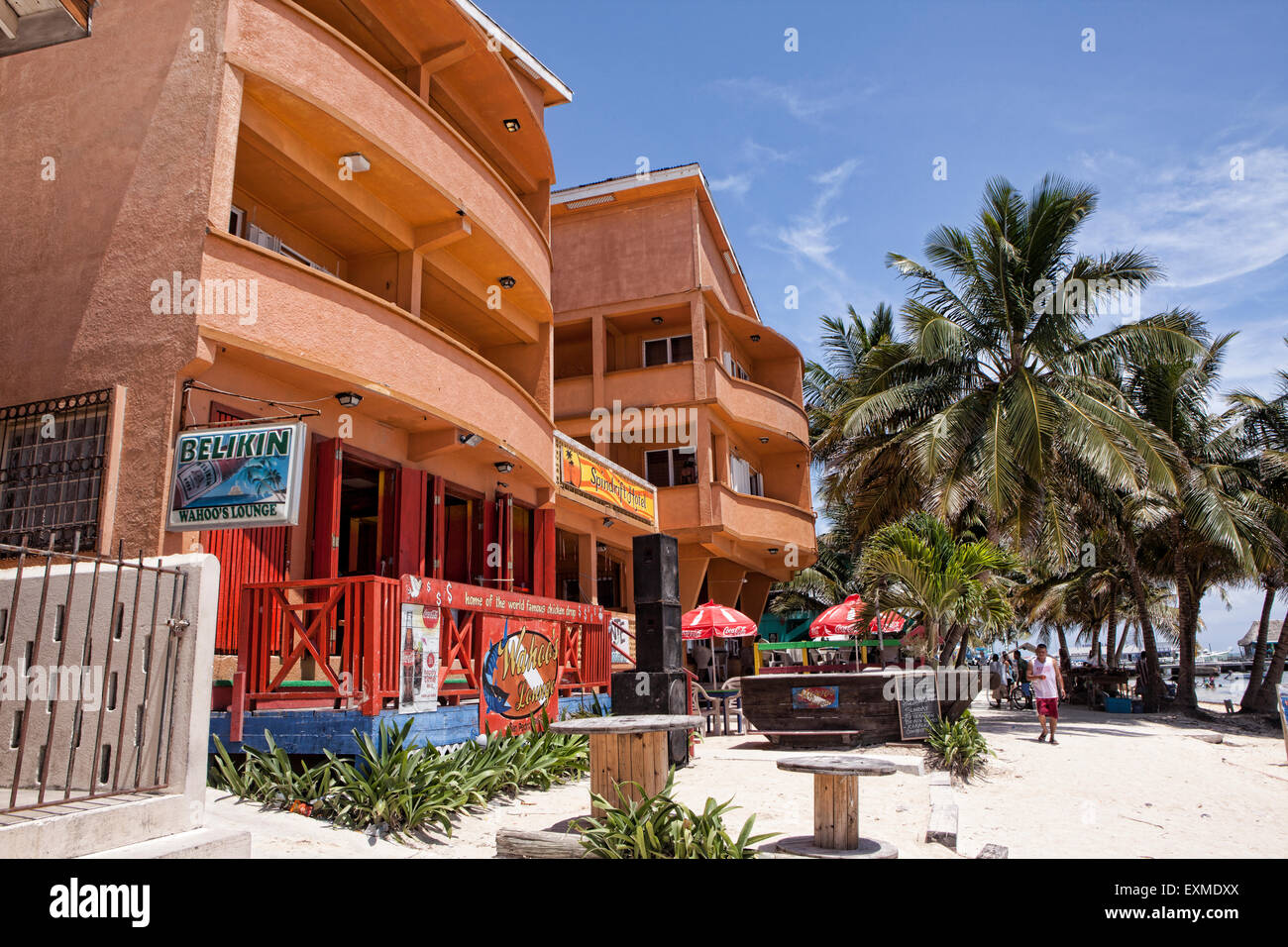 spindrift hotel and beach area in san pedro ambergris. Black Bedroom Furniture Sets. Home Design Ideas