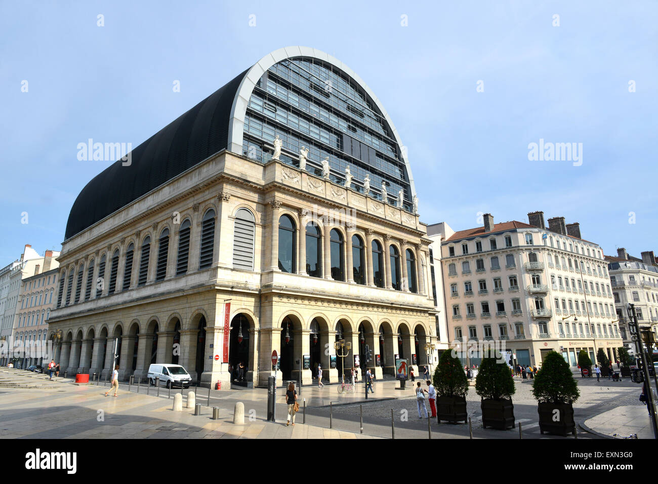 Modern Architecture France opera national de lyon opera house theatre rhone-alpes, france old