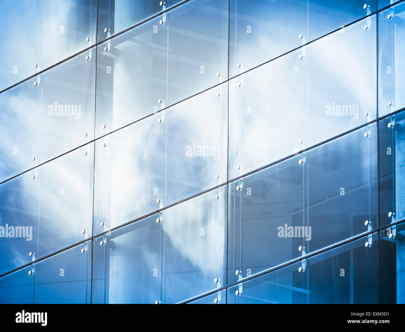 Germany Hamburg office building glass facade reflection of