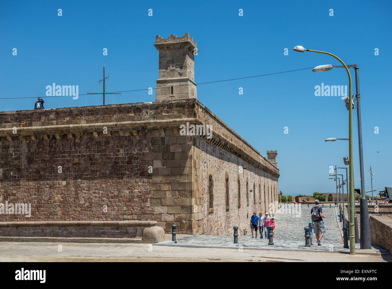 Montjuic Castle (Castillo De Montjuich) Old Military Fortress On Jewish  Mountain In Barcelona, Spain Great Pictures