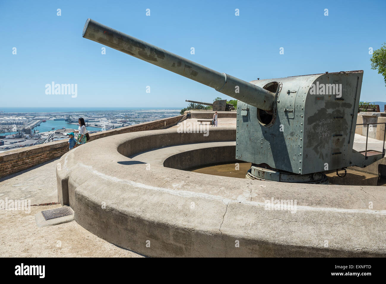 Lovely ... Old Cannon In Montjuic Castle (Castillo De Montjuich) Old Military  Fortress On Jewish Mountain Pictures