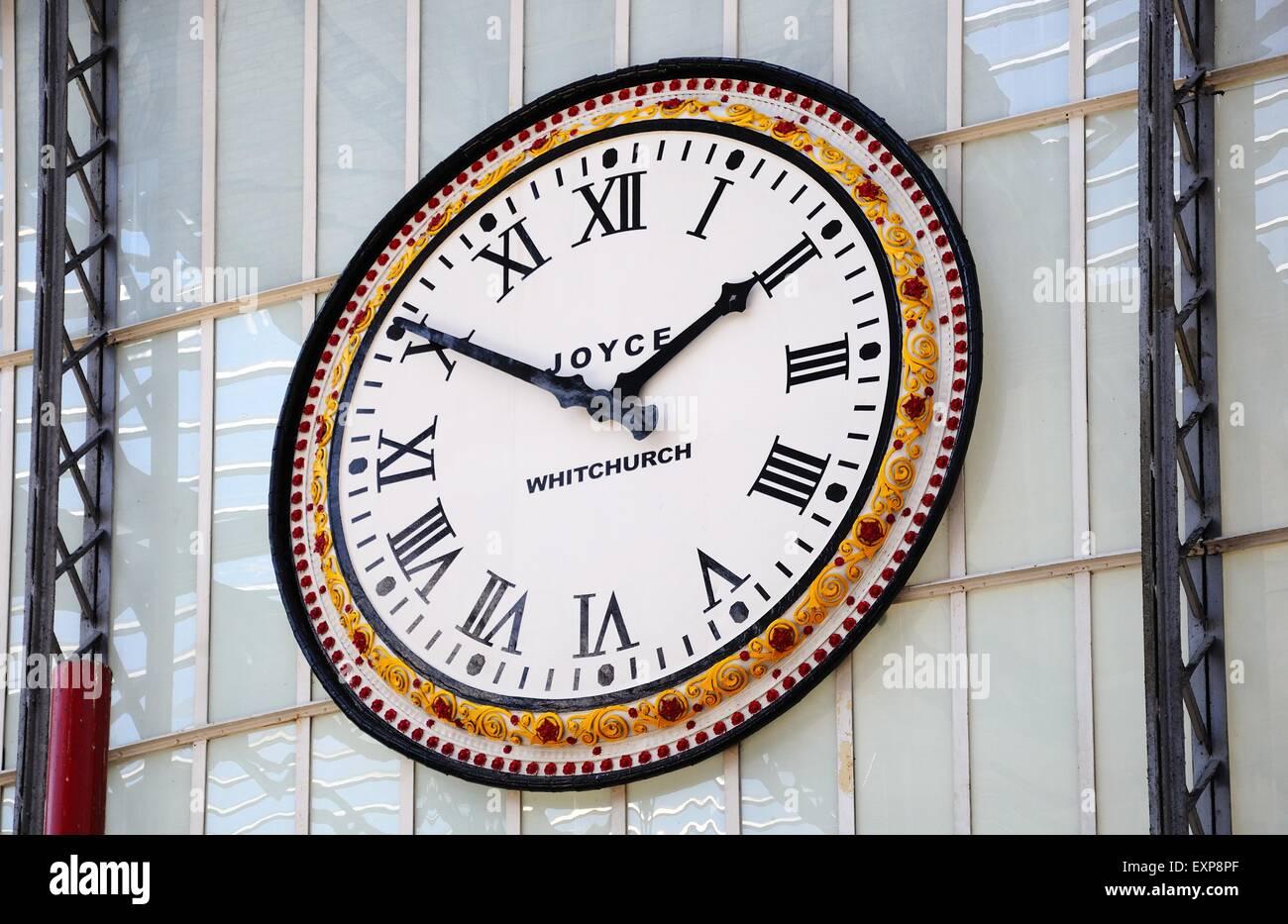 Wall clock by j b joyce co in lime street railway station stock stock photo wall clock by j b joyce co in lime street railway station liverpool merseyside england uk western europe amipublicfo Gallery