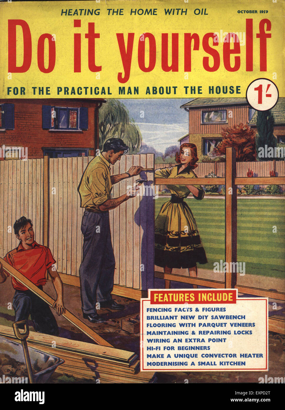 1950s uk do it yourself magazine cover stock photo royalty free 1950s uk do it yourself magazine cover solutioingenieria Images