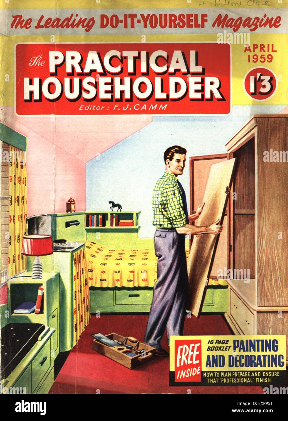 1950s uk practical householder magazine cover stock photo royalty 1950s uk practical householder magazine cover solutioingenieria Images