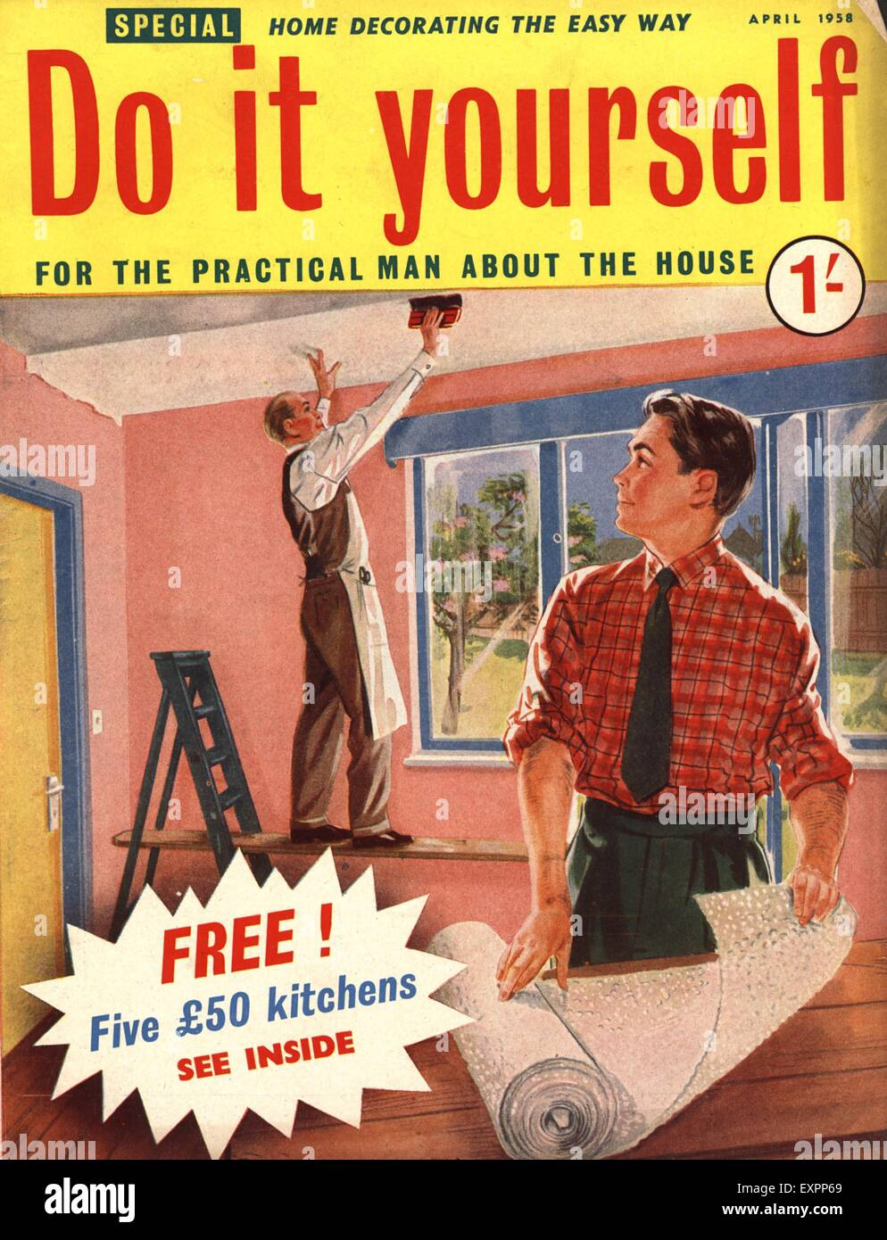 1950s uk do it yourself magazine cover stock photo royalty free 1950s uk do it yourself magazine cover solutioingenieria Gallery