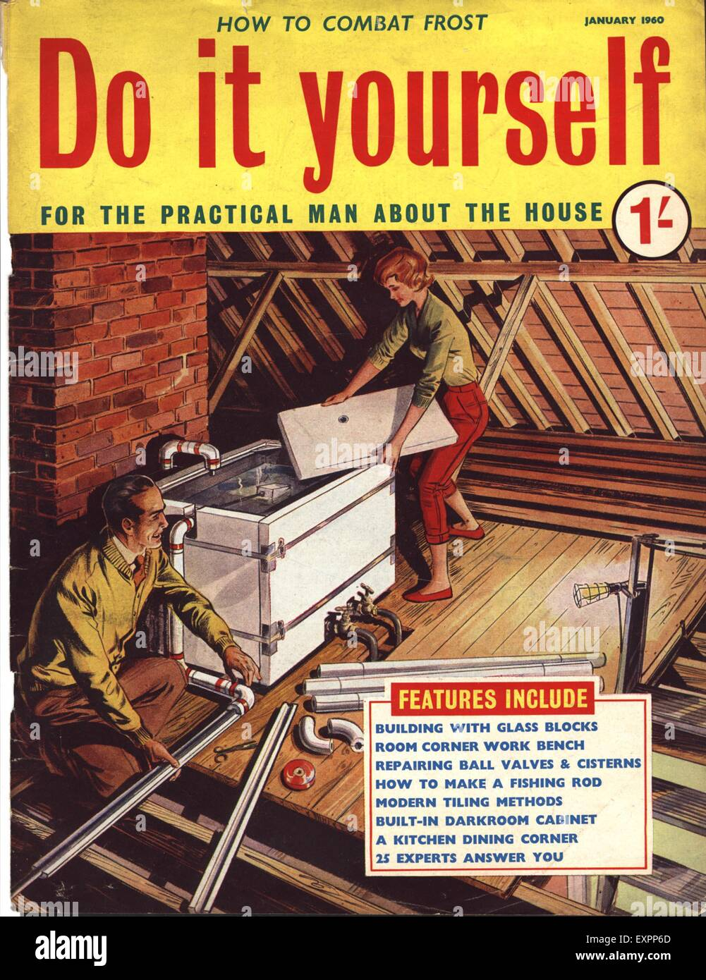 1960s uk do it yourself magazine cover stock photo royalty free 1960s uk do it yourself magazine cover solutioingenieria Images