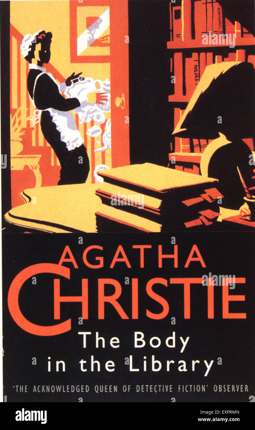 Book Cover Stock Photography : S uk the body in library by agatha christie book