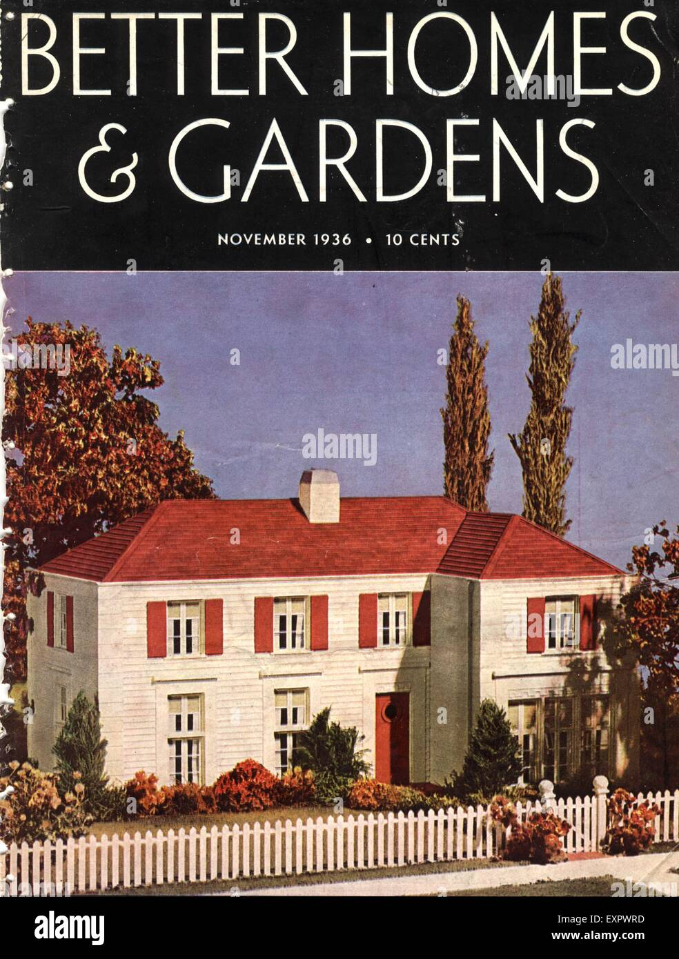 Home Magazines Usa 1930s usa better homes and gardens magazine cover stock photo