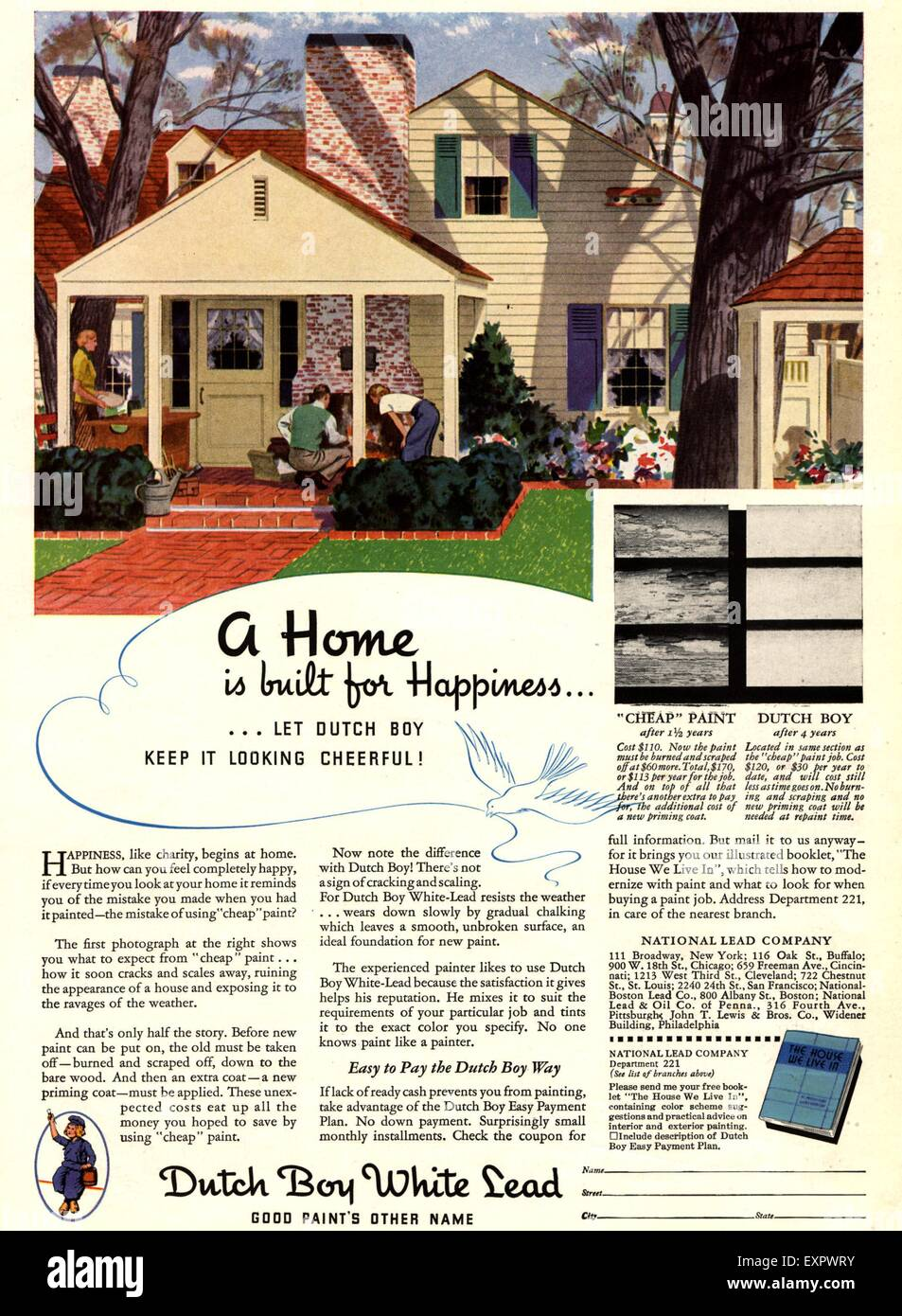Home Magazines Usa 1930s usa ideal home magazine advert stock photo, royalty free