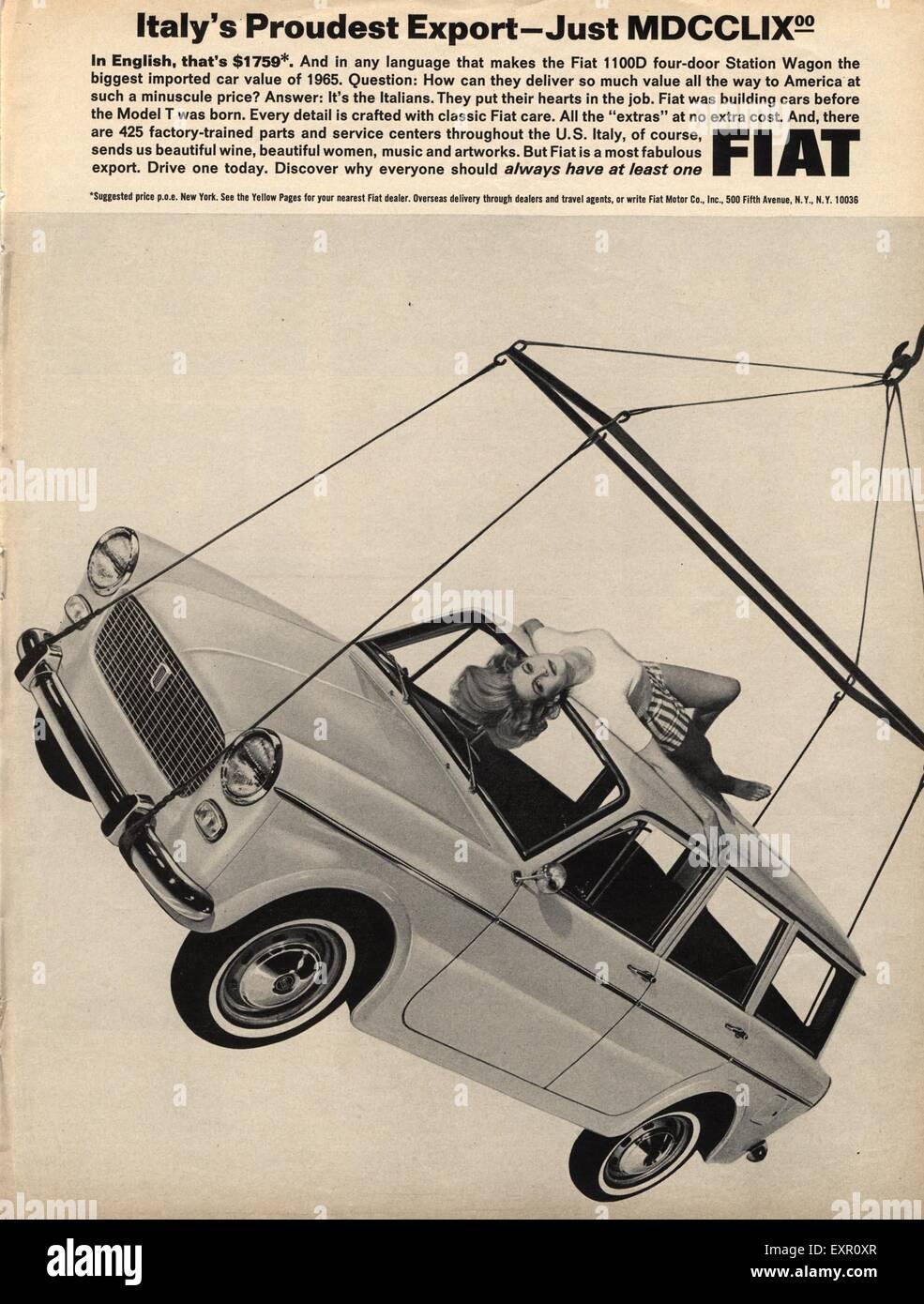 S USA Fiat Magazine Advert Stock Photo Royalty Free Image - Nearest fiat dealer