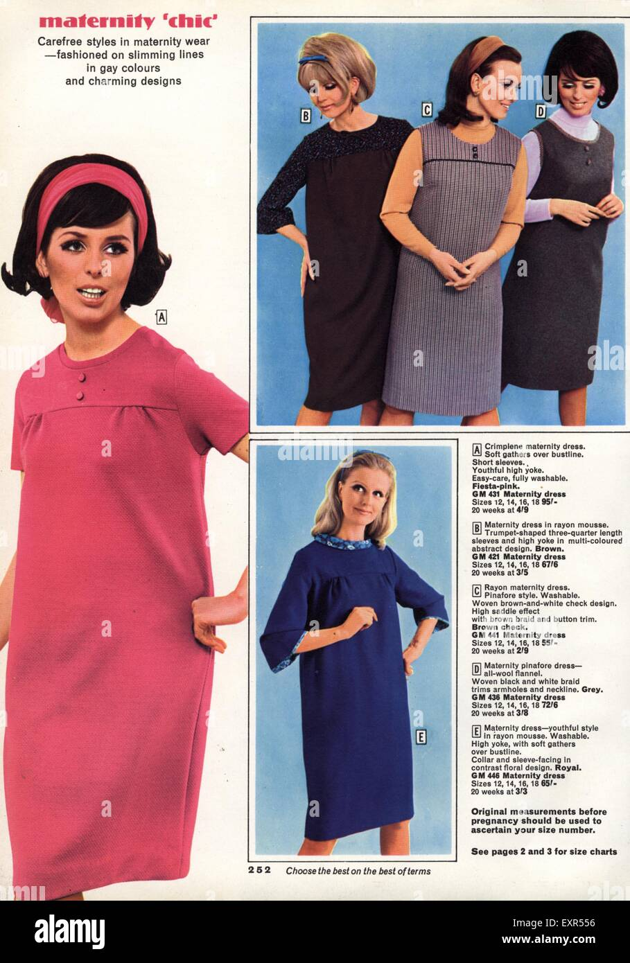 Size 16 maternity dresses choice image braidsmaid dress 1960s uk maternity clothes catalogue brochure plate stock photo 1960s uk maternity clothes catalogue brochure plate ombrellifo Images