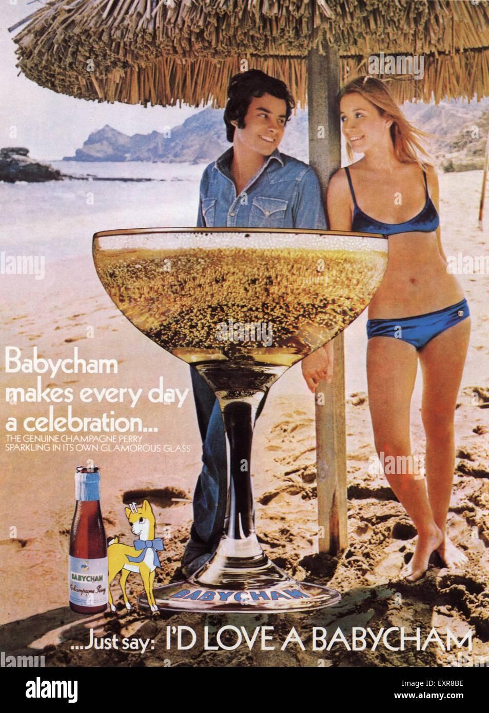 Babycham Advert Glasses