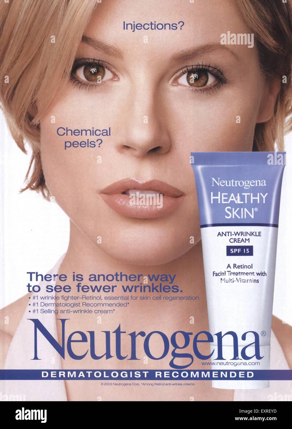 Stock Photo - 2000s USA Neutrogena Magazine Advert
