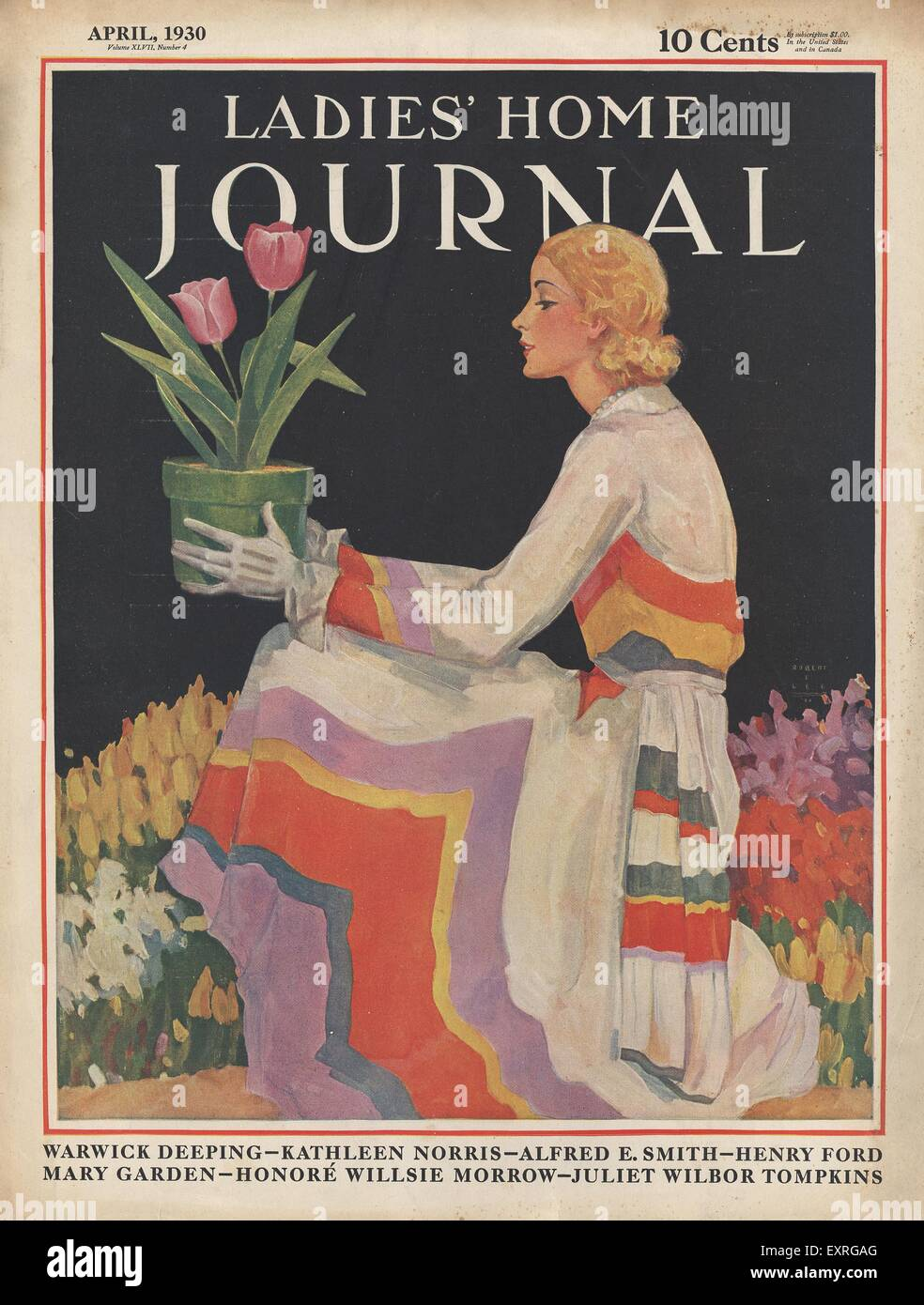 Home Magazines Usa 1930s usa ladies' home journal magazine cover stock photo, royalty