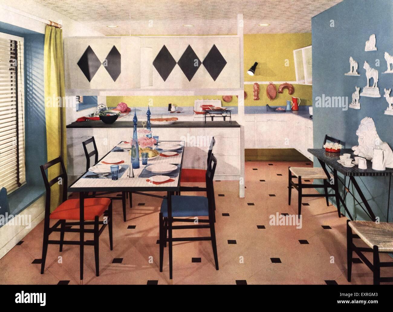 1950s uk kitchens interiors 1950s magazine advert stock photo