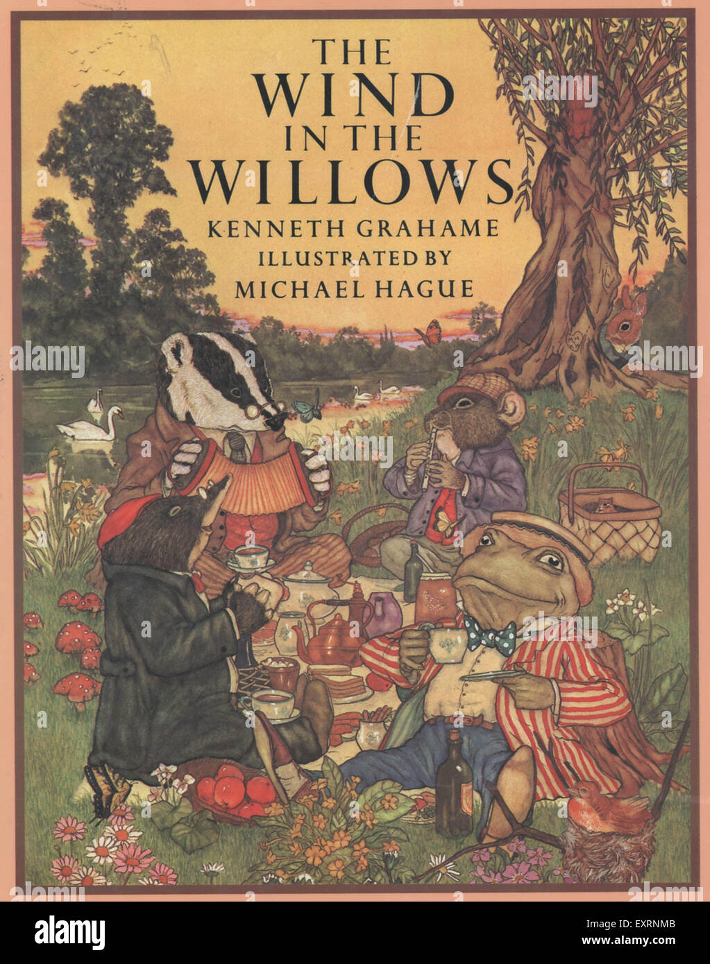 Wind in the willows ornaments - 1980s Uk The Wind In The Willows By Kenneth Grahame Book Cover Stock Image