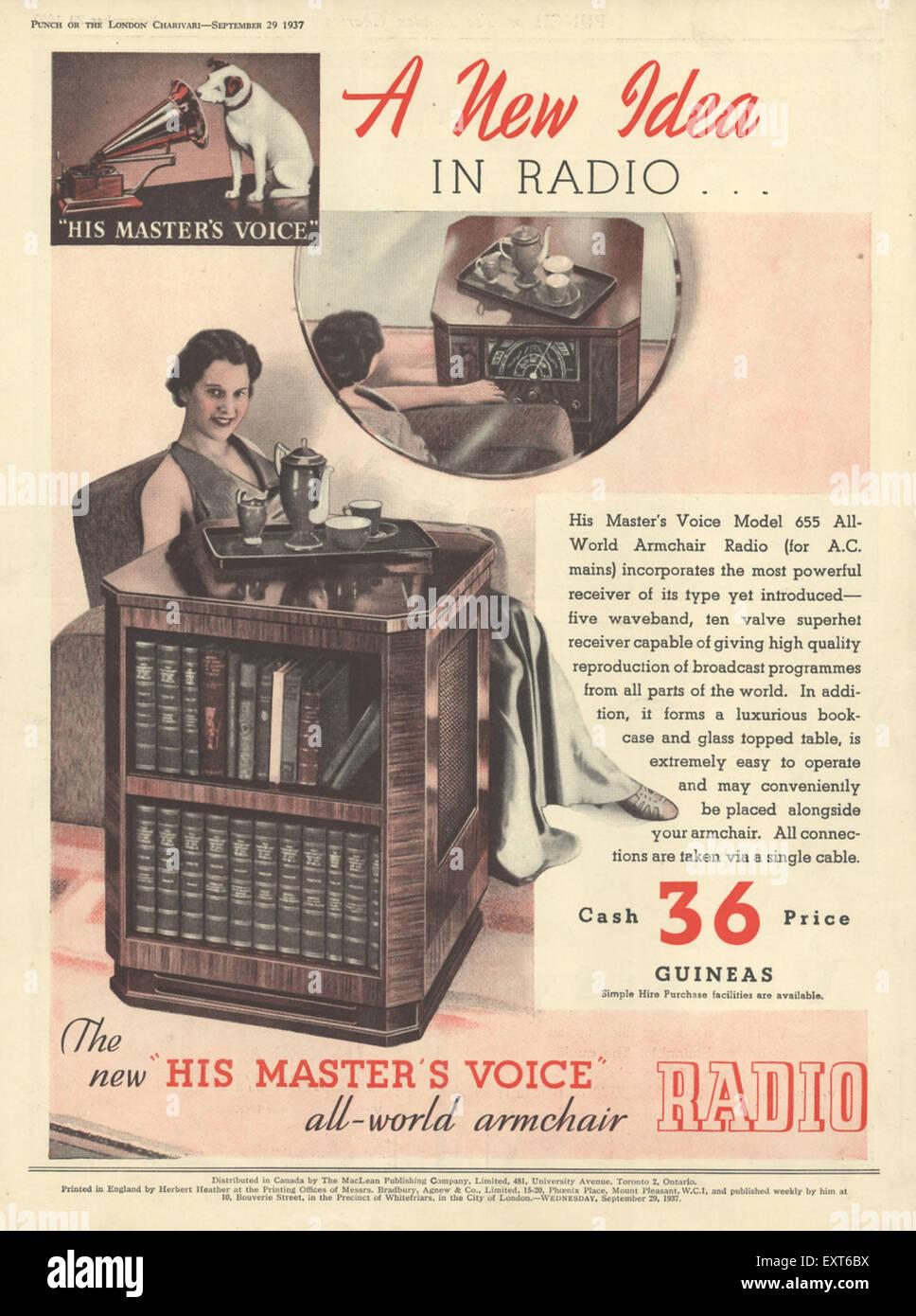 Hmv magazine advert stock photos hmv magazine advert stock images 1930s uk hmv his masters voice magazine advert stock image gumiabroncs Images
