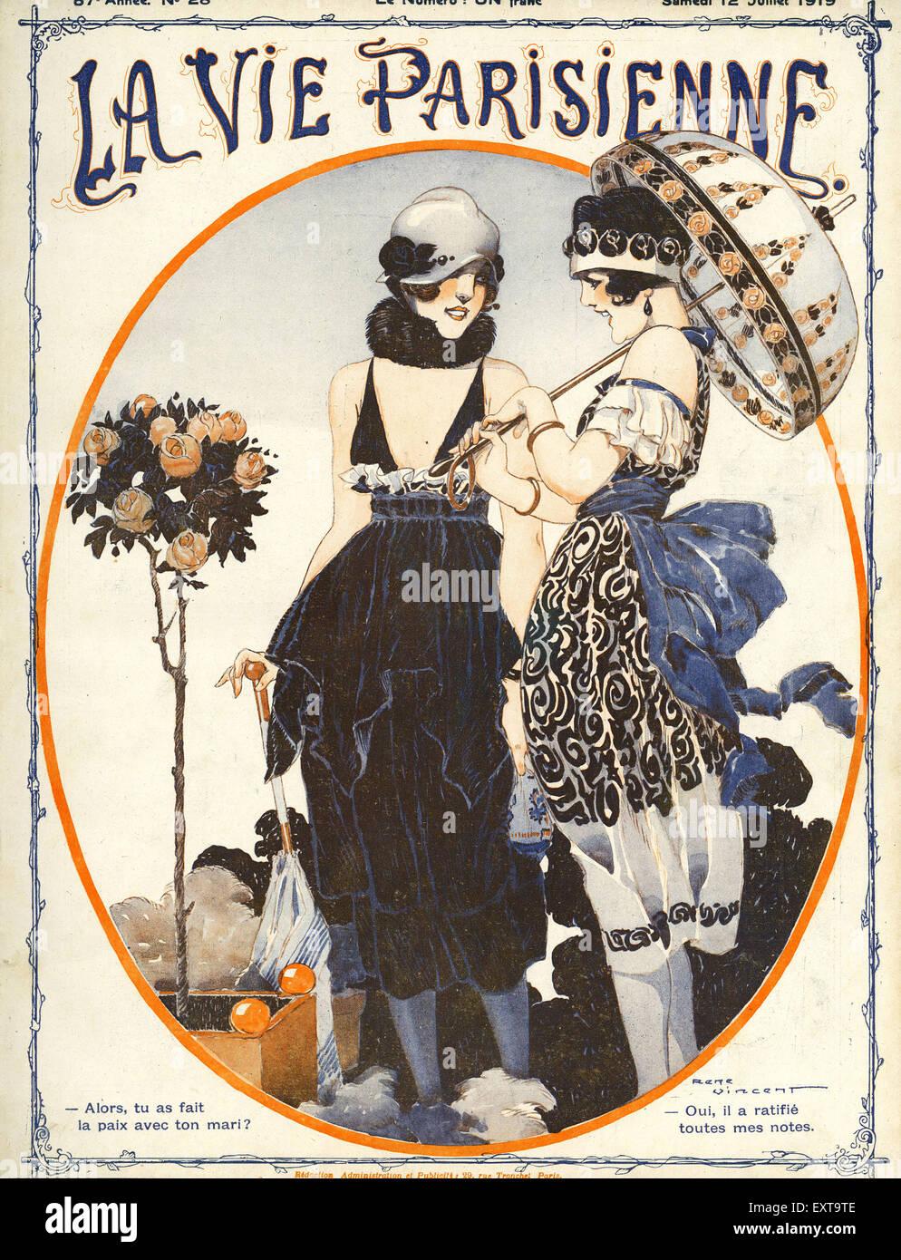 1910s france la vie parisienne magazine cover stock photo royalty free image - La parisienne journal ...