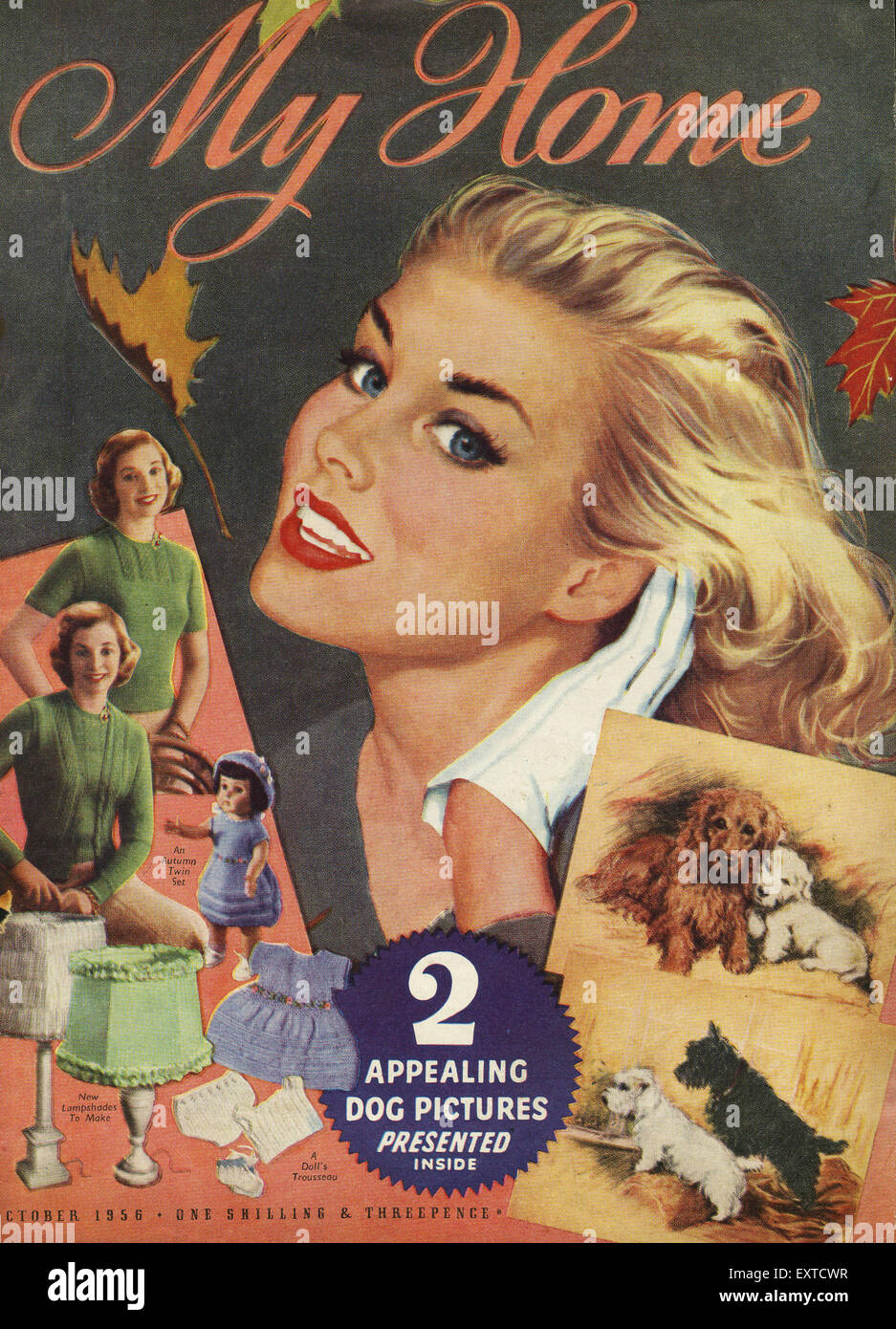 Home Magazines Usa 1950s usa my home magazine cover stock photo, royalty free image