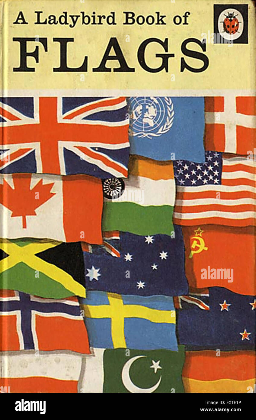 Book Cover Photography Uk : S uk a ladybird book of flags cover stock photo