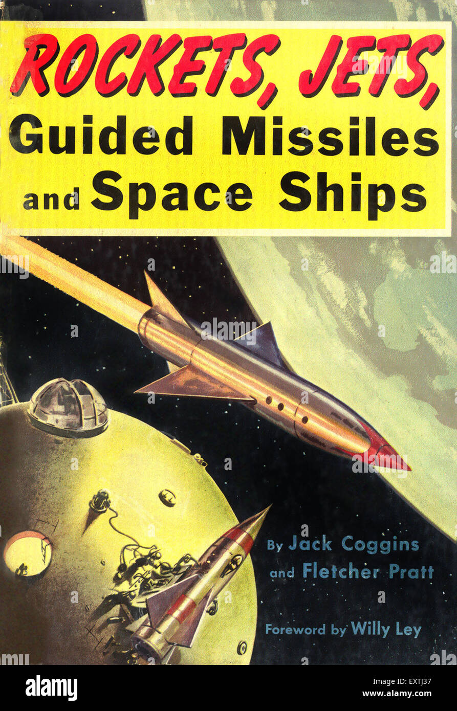 1950s usa rockets jets guilded missiles and space ships book