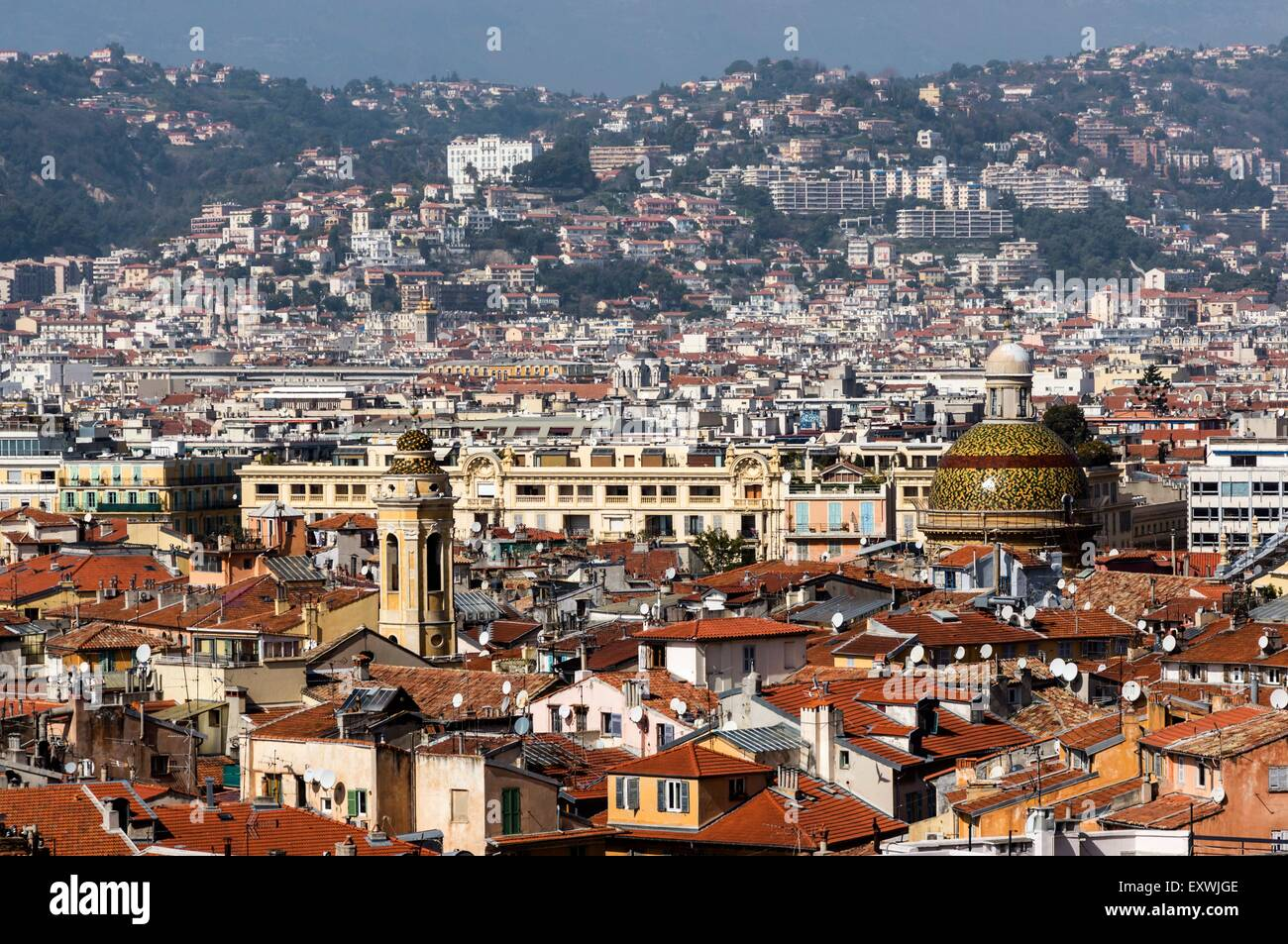 Old city center of Nice, France Stock Photo, Royalty Free ...