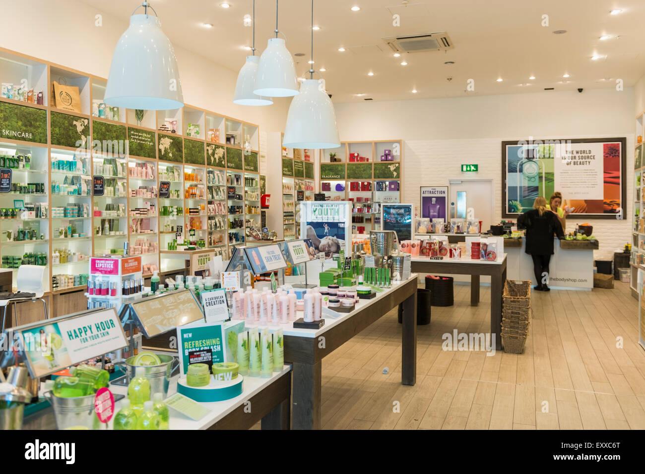 Inside The Body Shop Retail Store Uk Stock Photo Royalty Free Image 85402880 Alamy