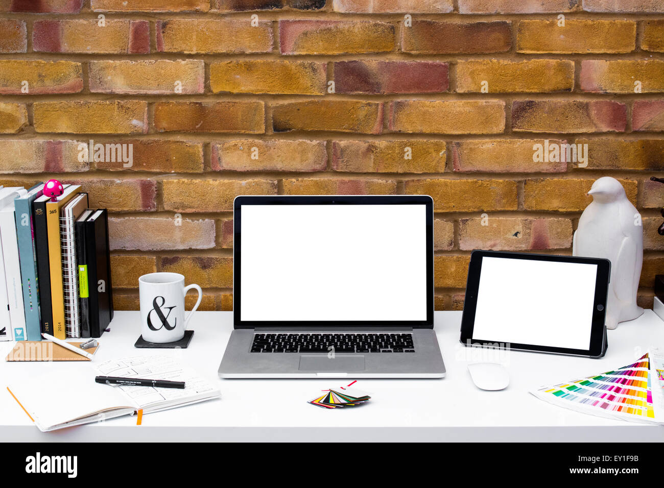 Creative Home Office creative home office space with graphic designers desk with laptop
