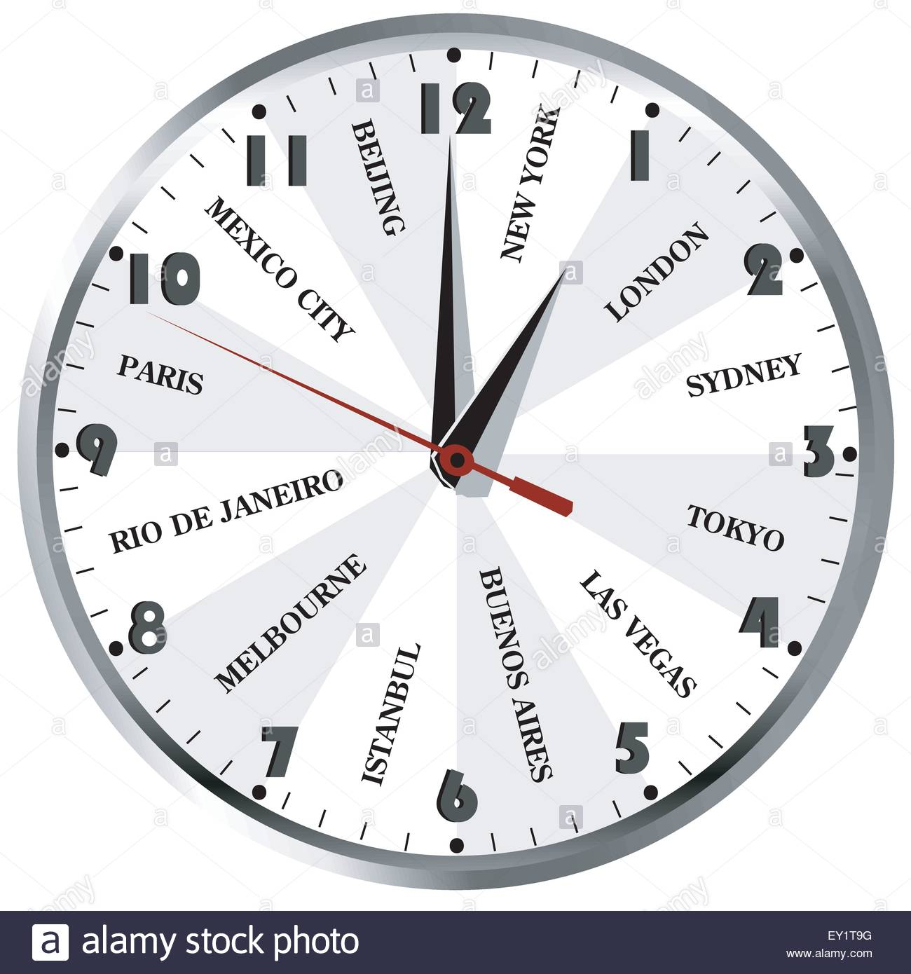 Wall clock with popular city names from the world for travel stock vector wall clock with popular city names from the world for travel agencies amipublicfo Choice Image
