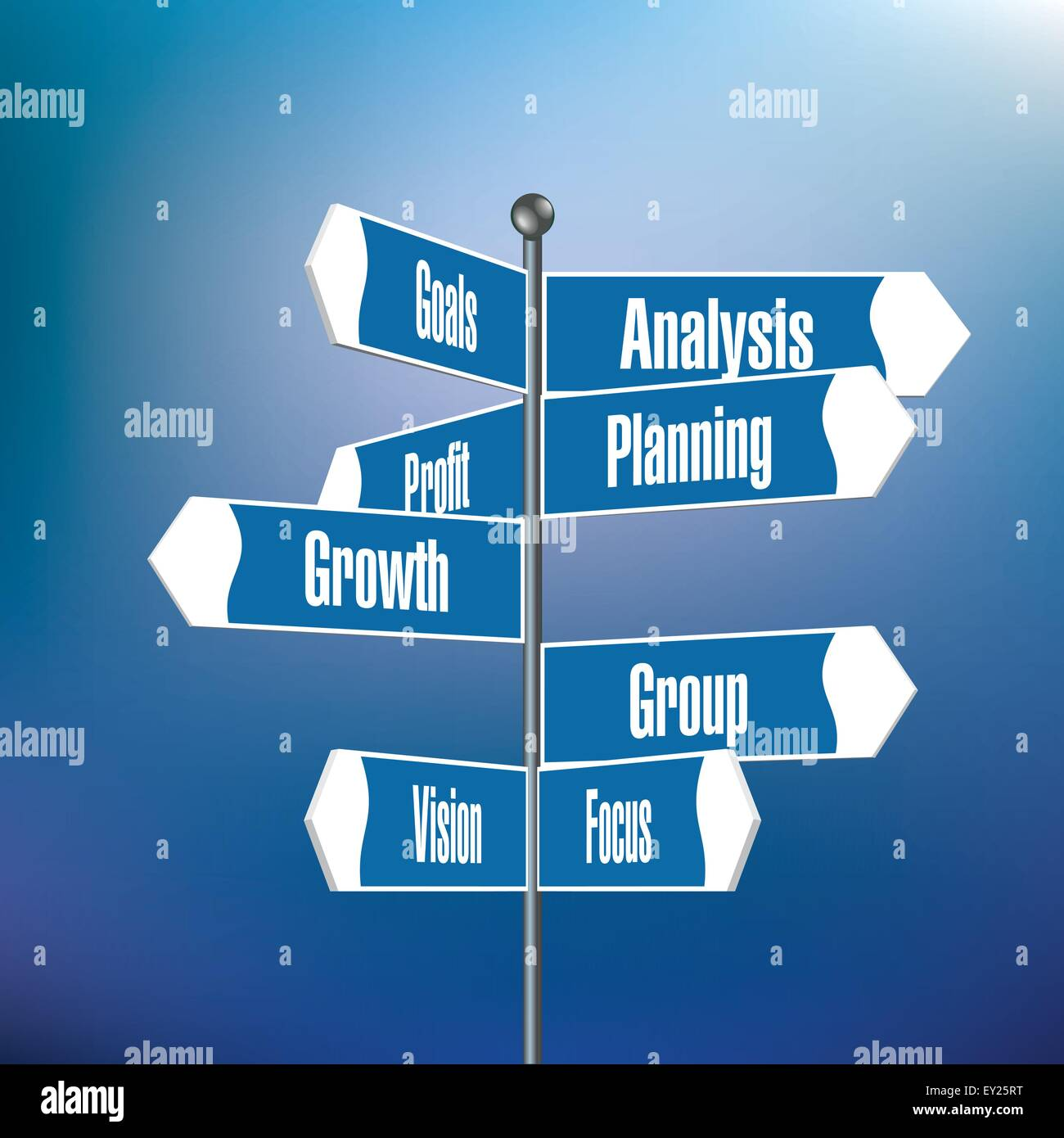 Motivational Words Signpost With Motivational Words  Vector Illustration Stock
