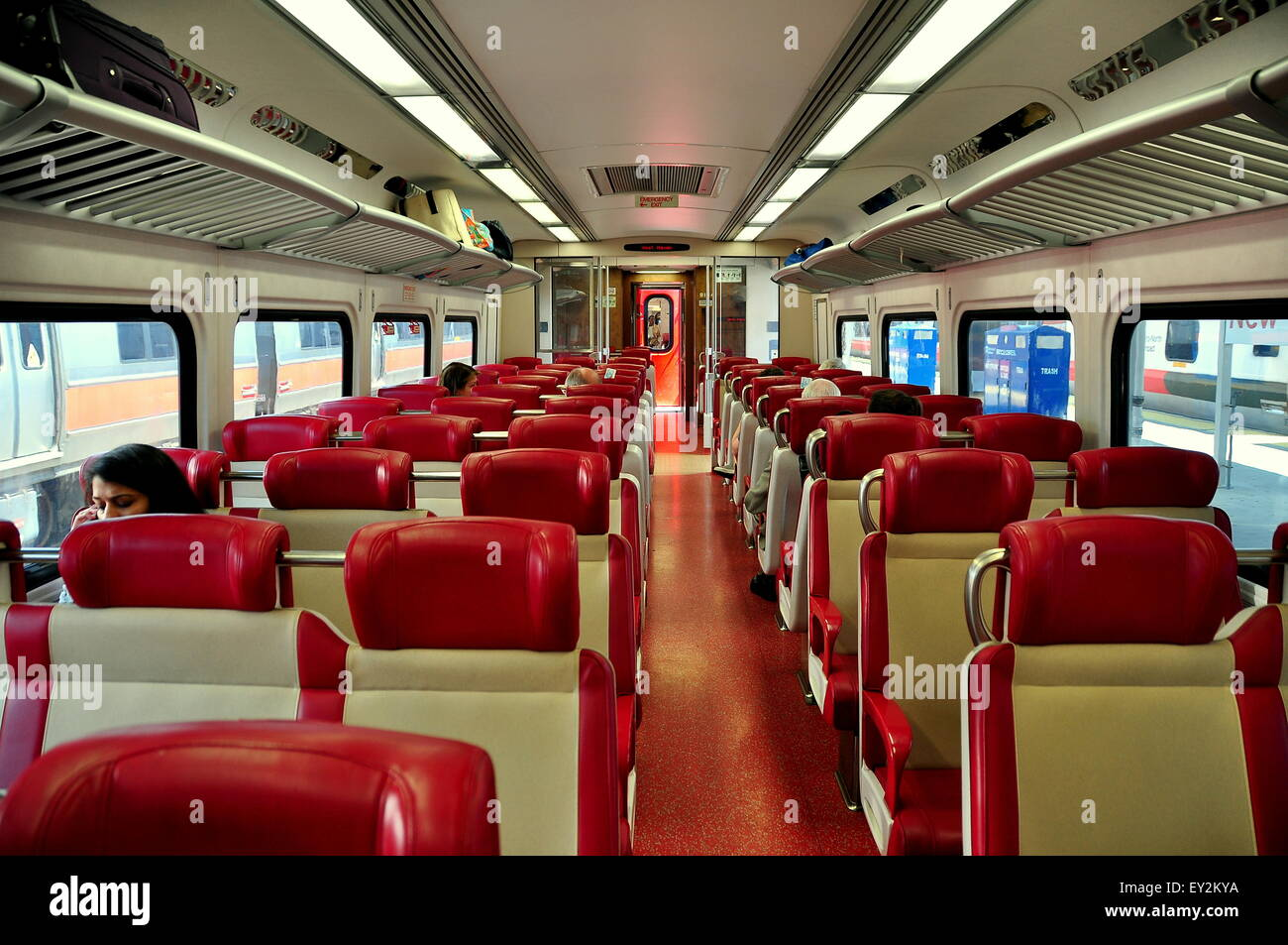 new haven ct metro north commuter railroad passenger car on the new stock photo royalty free. Black Bedroom Furniture Sets. Home Design Ideas