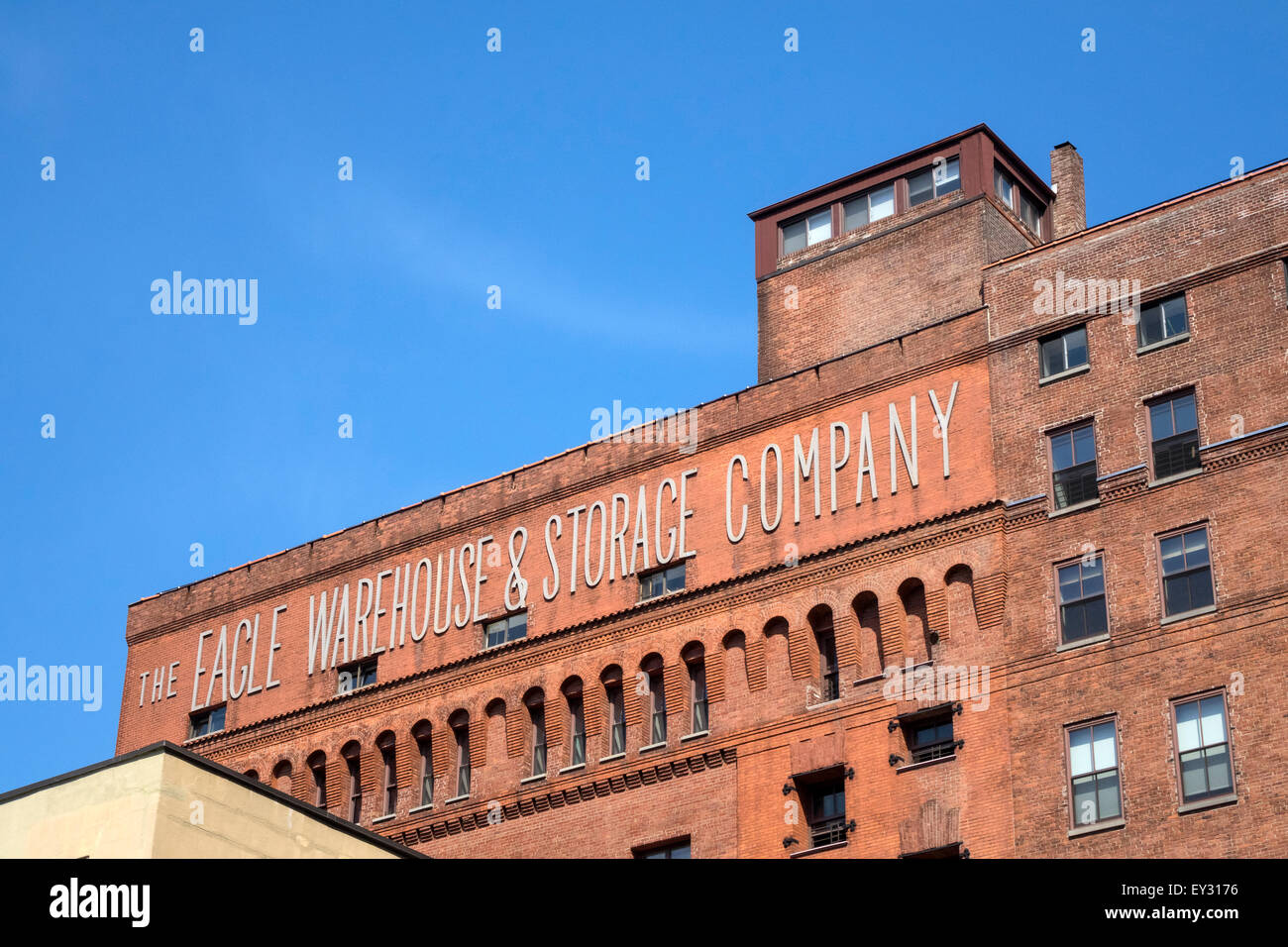 Stock Photo   The Eagle Warehouse U0026 Storage Company On Old Fulton Street In  Brooklyn, Once Part Of The Daily Newspaper, The Brooklyn Eagle