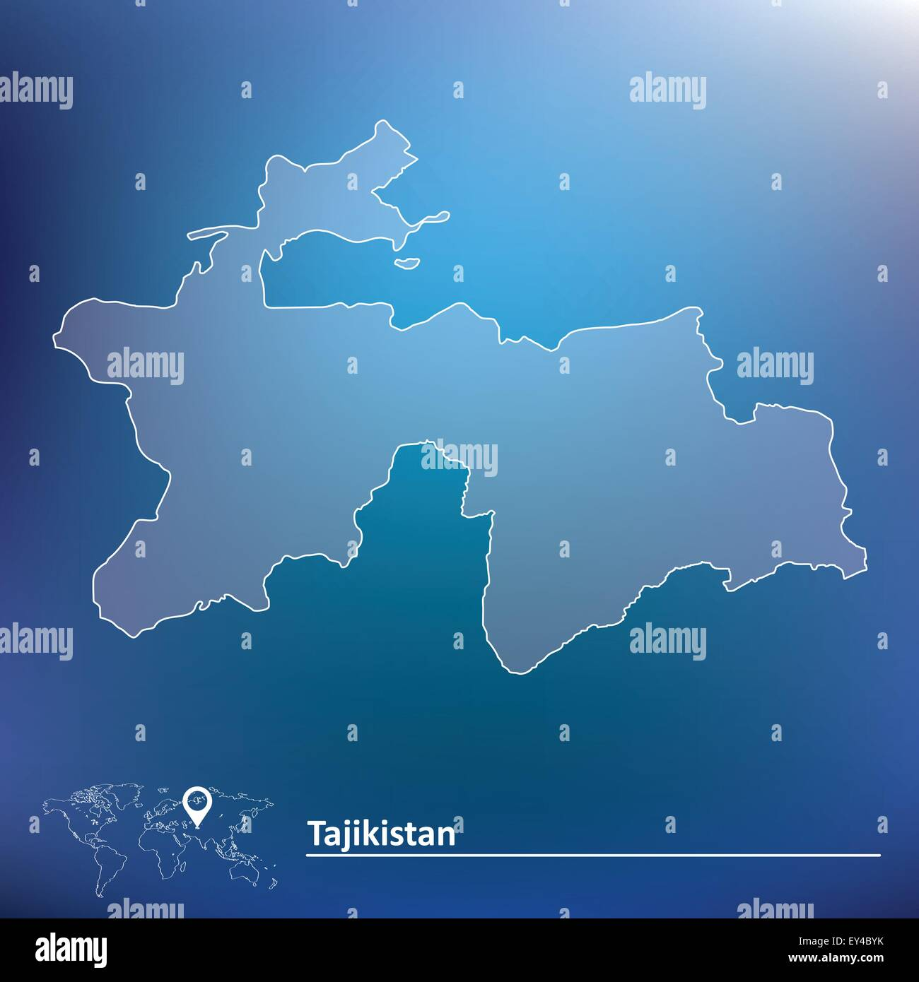 Map Of Tajikistan Vector Illustration Stock Vector Art - Tajikistan map vector