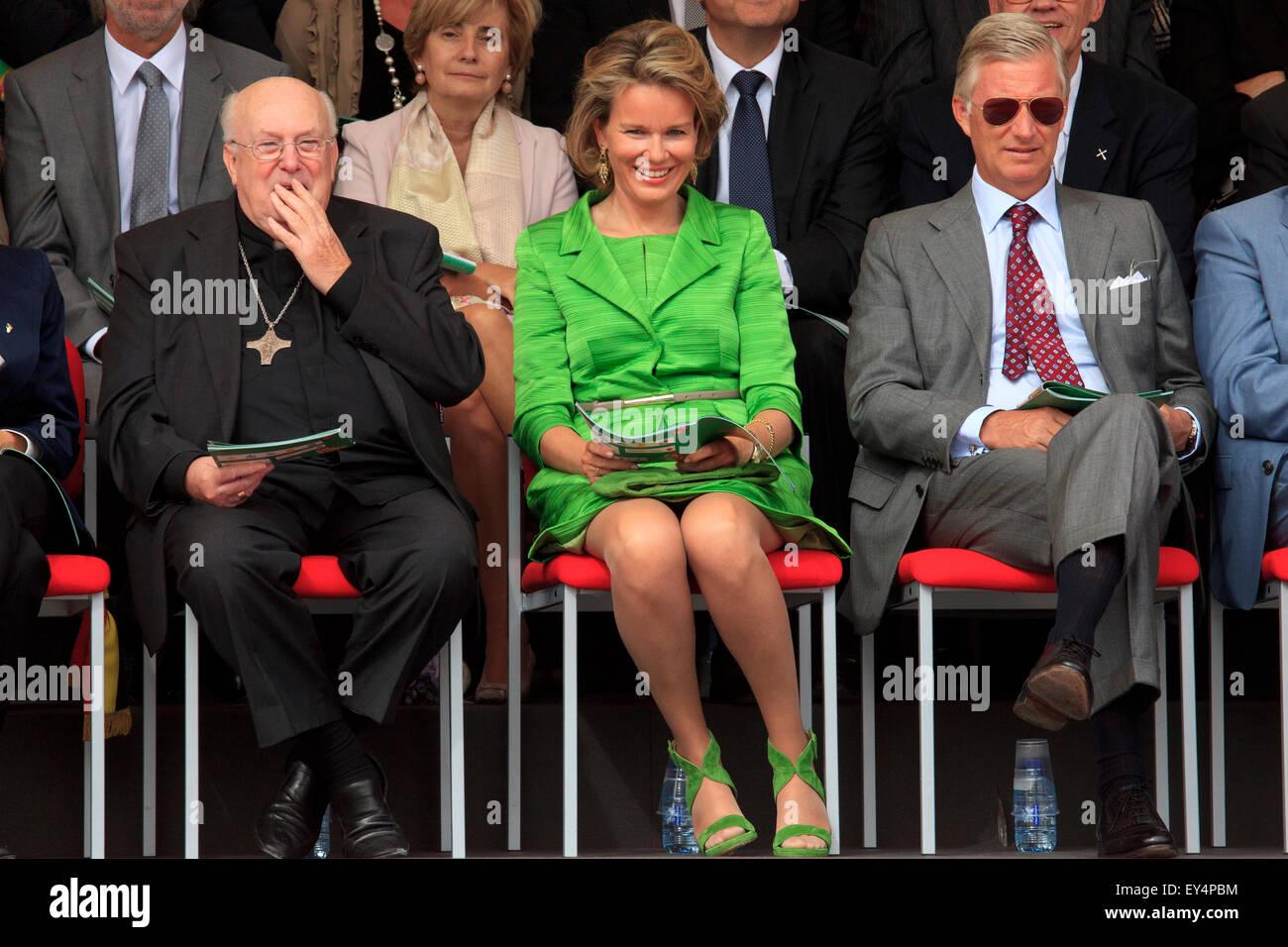 Godfried Danneels Detail: King Philippe & Queen Mathilde Of Belgium & Cardinal