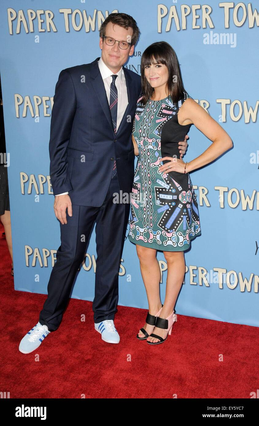 John Green, Sarah Urist Green at arrivals for PAPER TOWNS ...