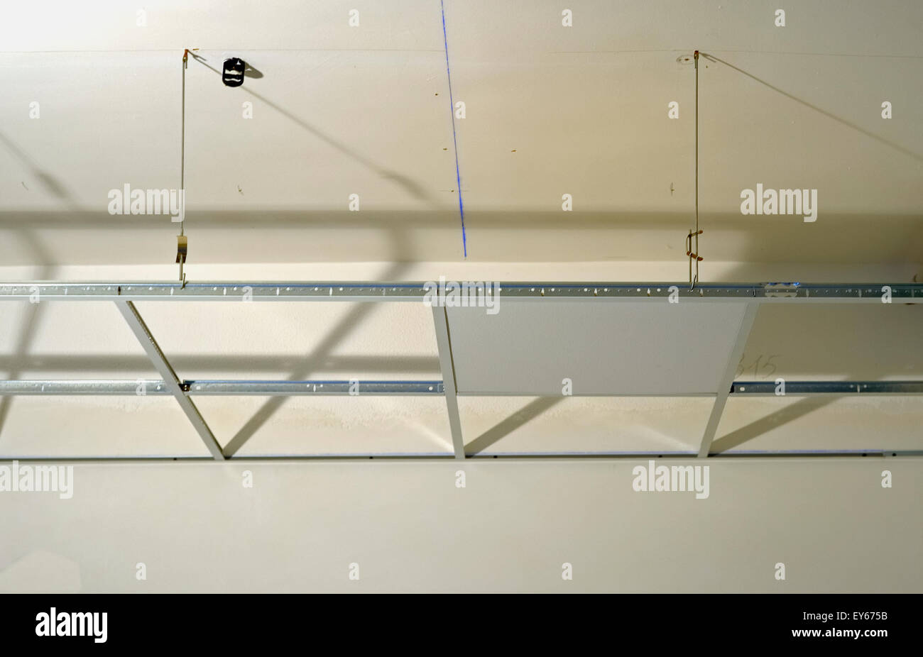 Construction Of The Structure Of A Suspended Ceiling With