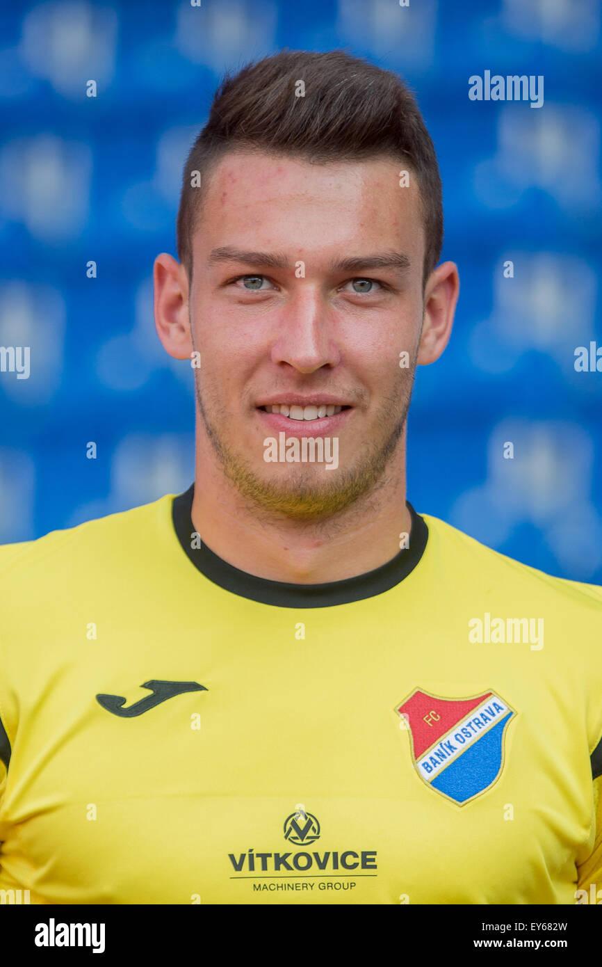 Jiri Pavlenka, soccer player of Banik Ostrava team in ...