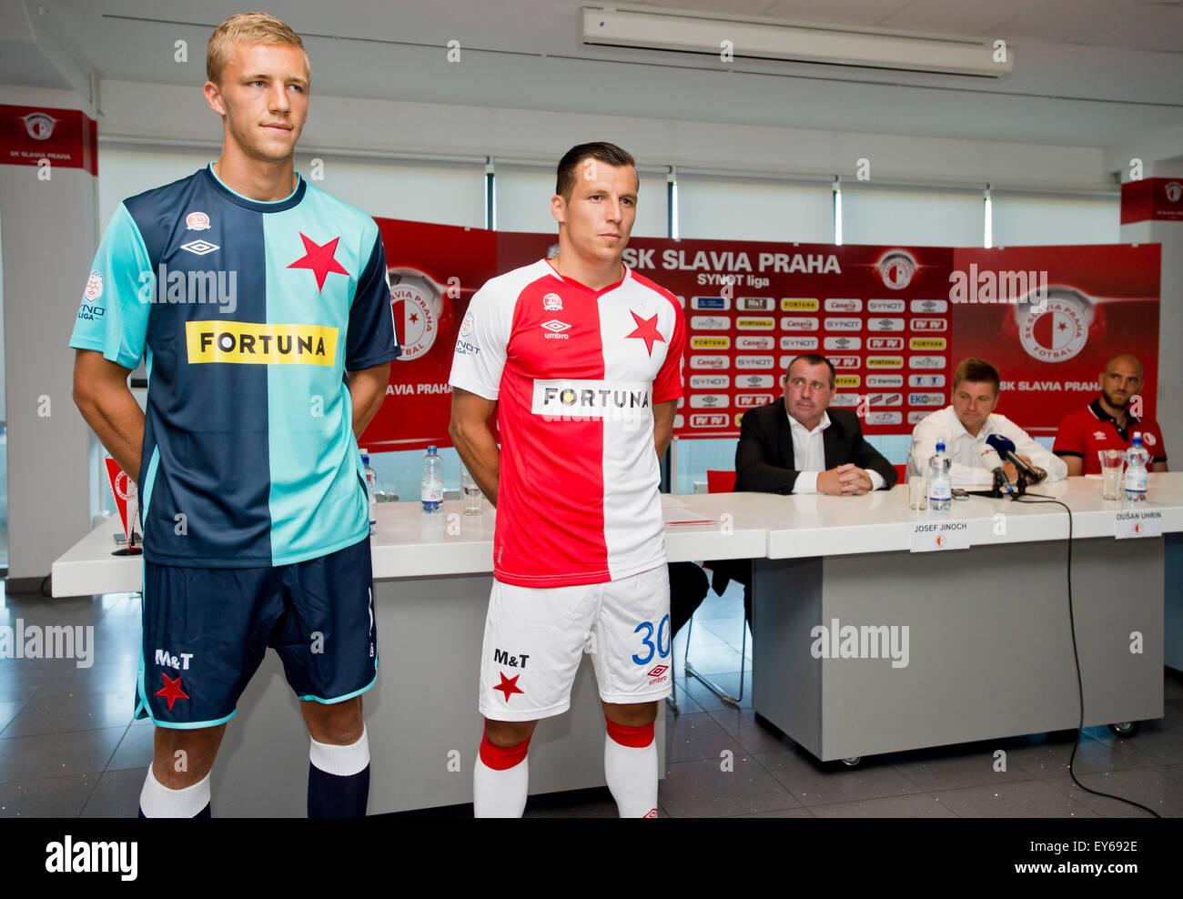 Sk Slavia Image: Prague, Czech Republic. 22nd July, 2015. Players Of SK