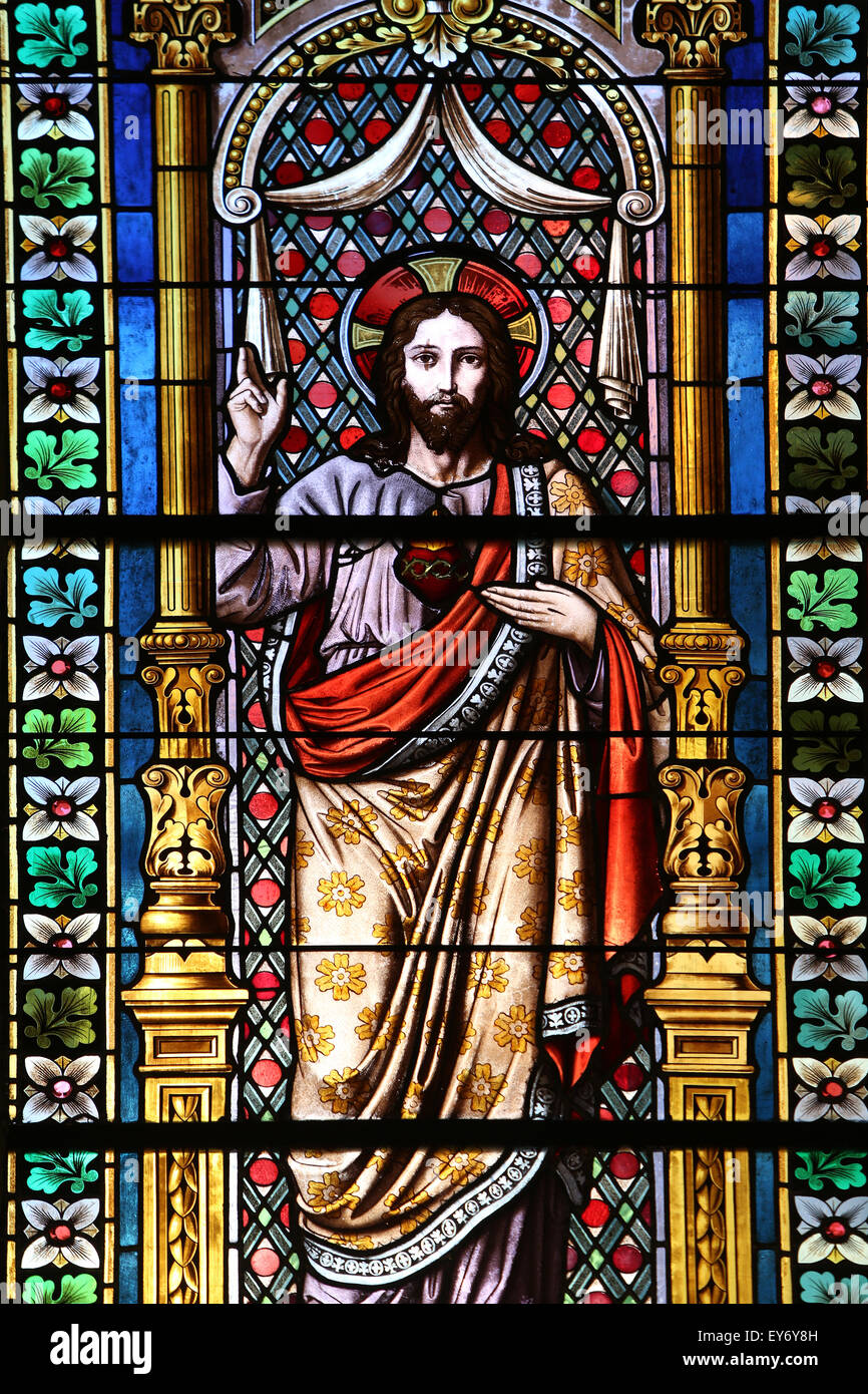 96 stained glass windows jesus stained glass window of