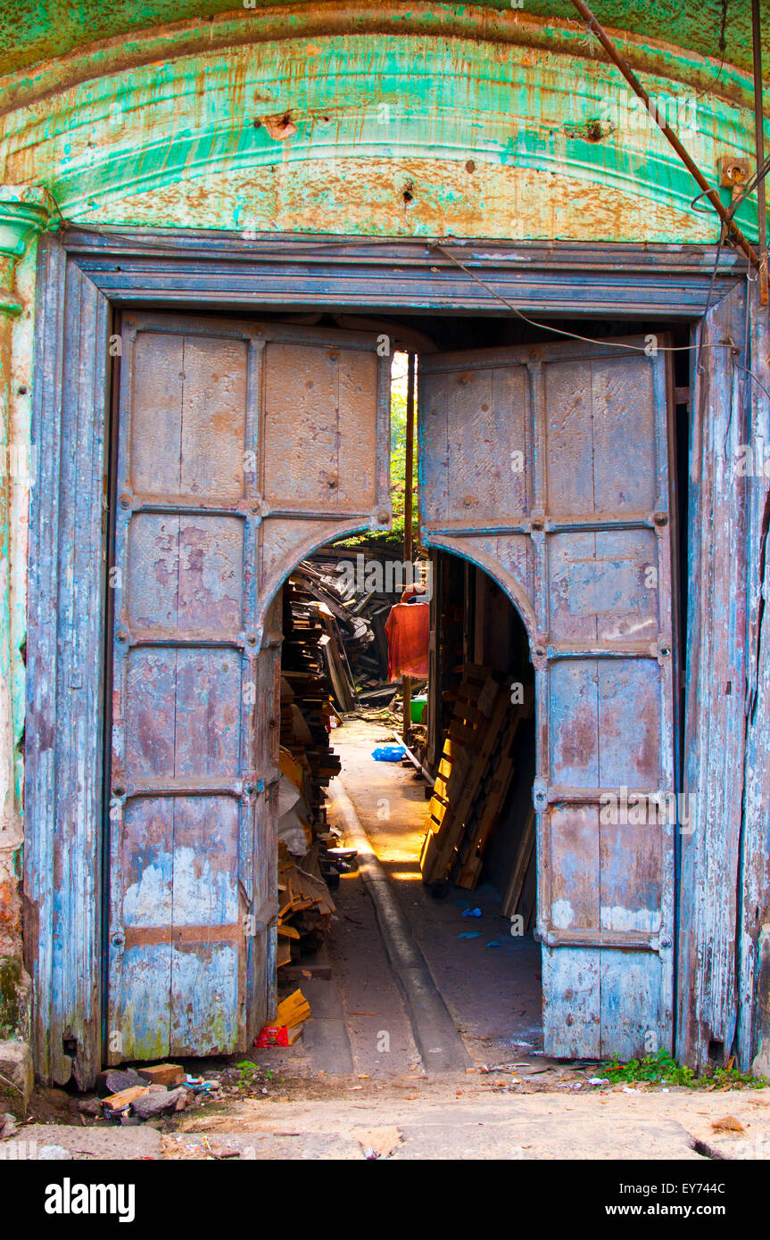old wood door market corner fort cochin kerala india asia - & Fort Door Stock Photos \u0026 Fort Door Stock Images - Alamy