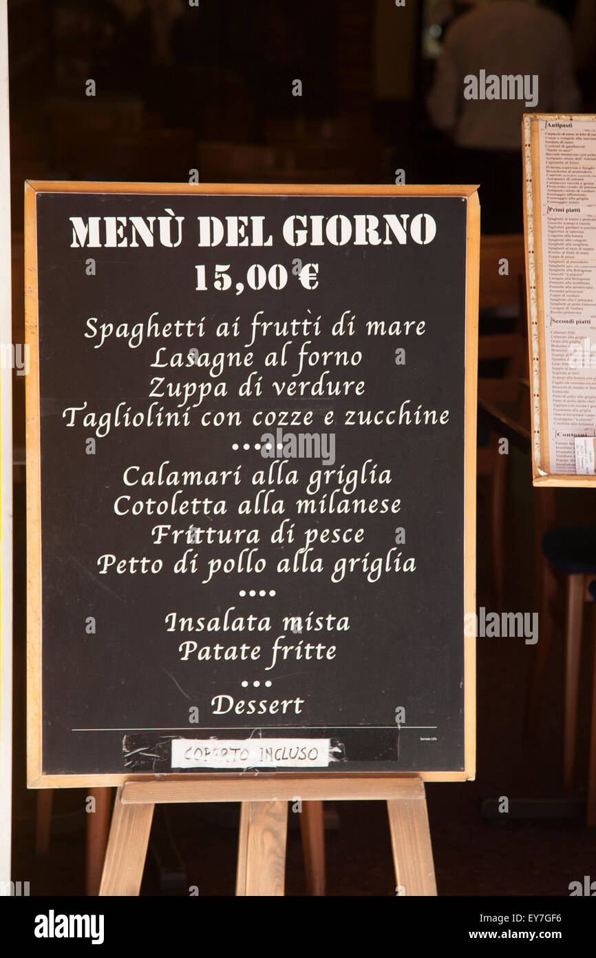 Stock Photo Italian Food Restaurant Menu Venice Italy 85603818 on Food To Sell