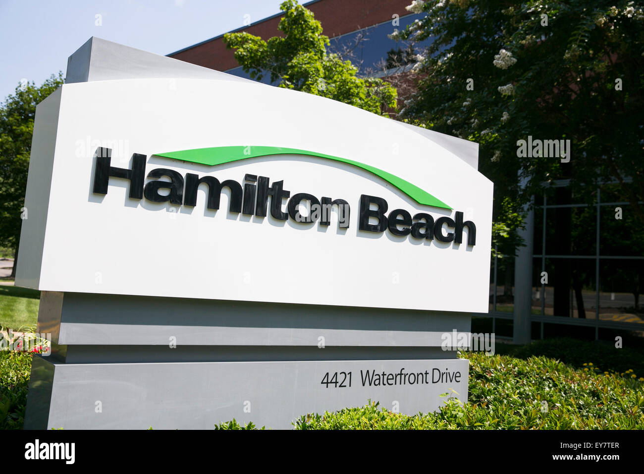Hamilton Beach Logo A Logo Sign Outside Of The Headquarters Of Hamilton Beach Brands