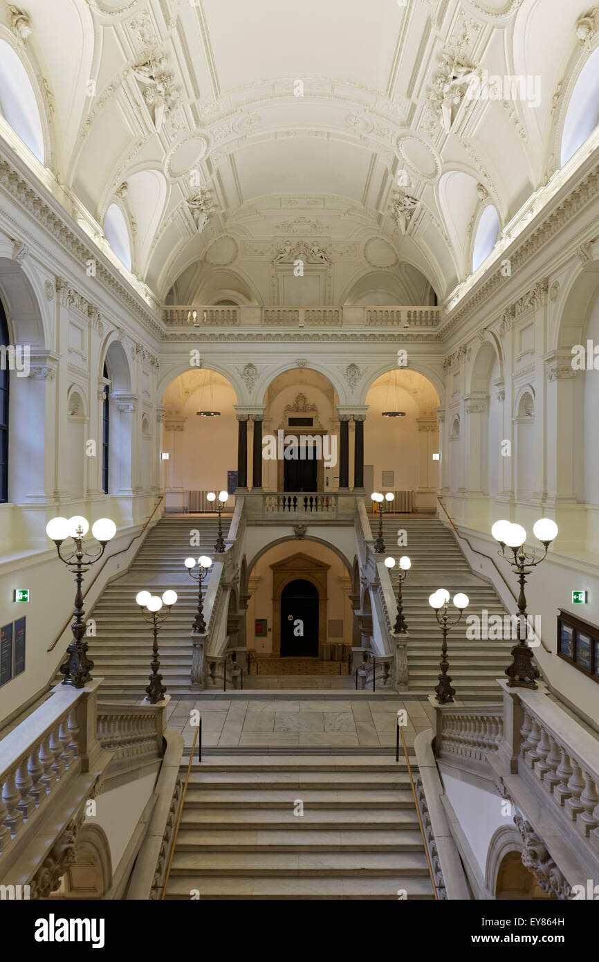 Philosophers Staircase Grand In The University Of Vienna Ringstrasse Austria