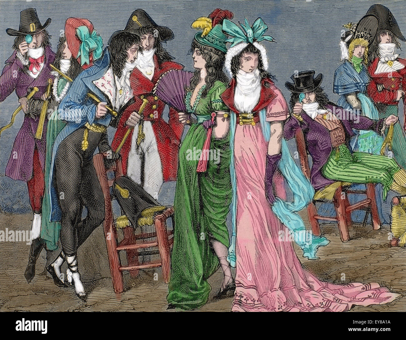 French History First Empire 1804 1820 Dressed As Bourgeois Stock Photo Royalty Free Image