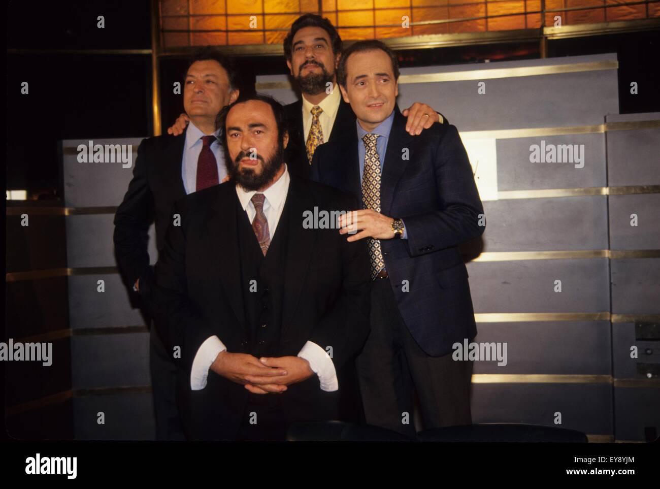 LUCIANO PAVAROTTI Zubin Mehta Placido Domingo and Jose Stock Photo ...