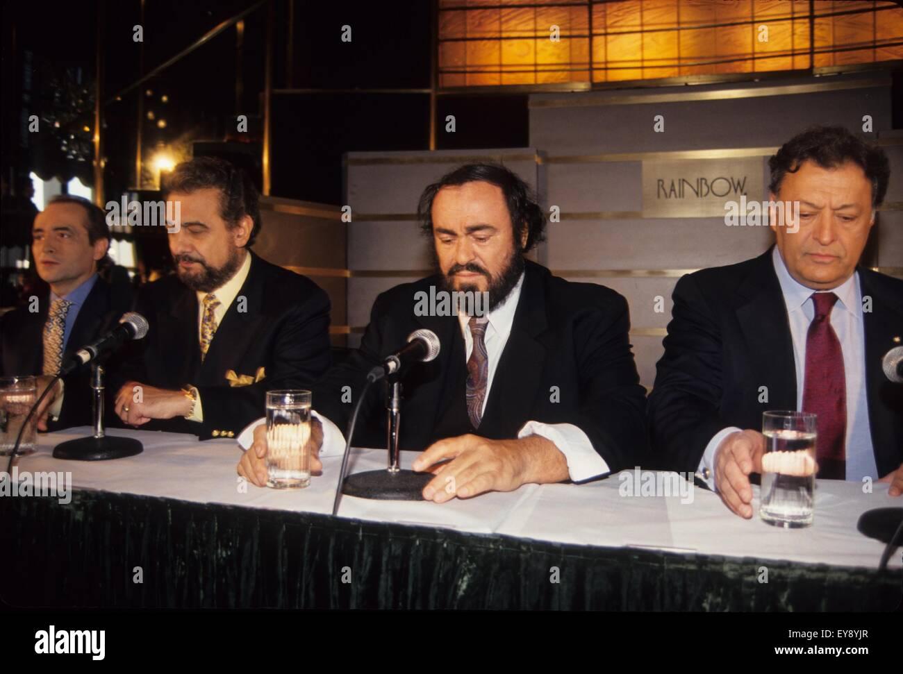 LUCIANO PAVAROTTI Jose Carreras Palcido Domingo and Zubin Stock ...