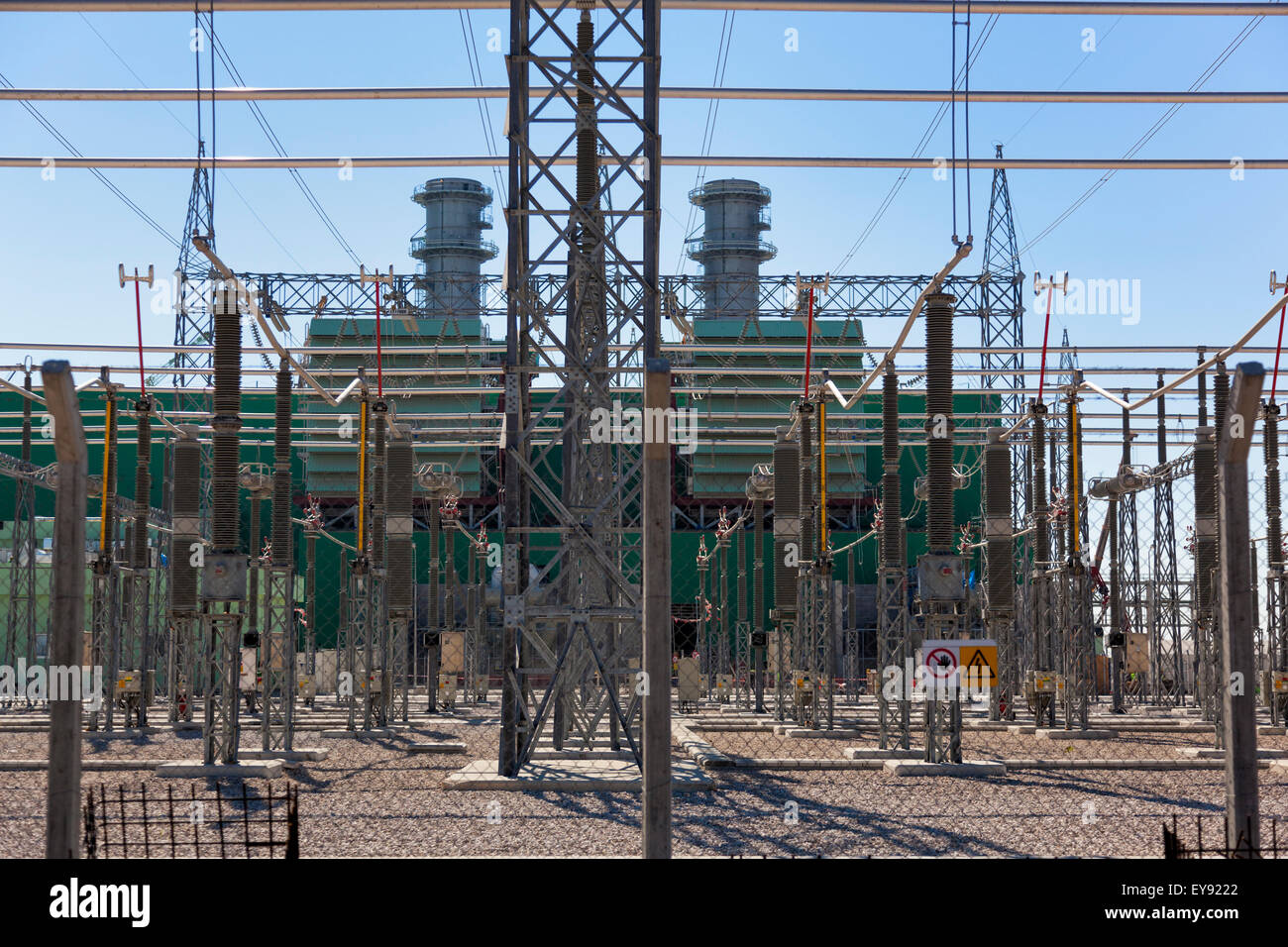 high voltage power plant outdoor switchyard stock photo 85636378 alamy. Black Bedroom Furniture Sets. Home Design Ideas