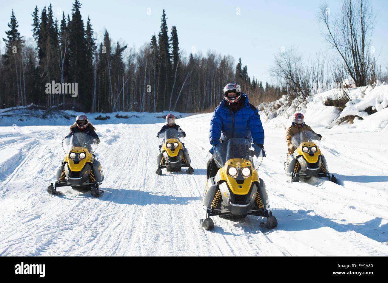 49th Missile Defense Battalion Soldier puts on Snow Machine Safety ...
