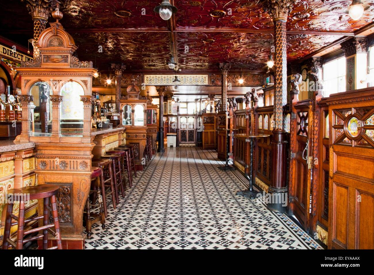 Inside The Crown Bar Belfast City County Antrim Ireland