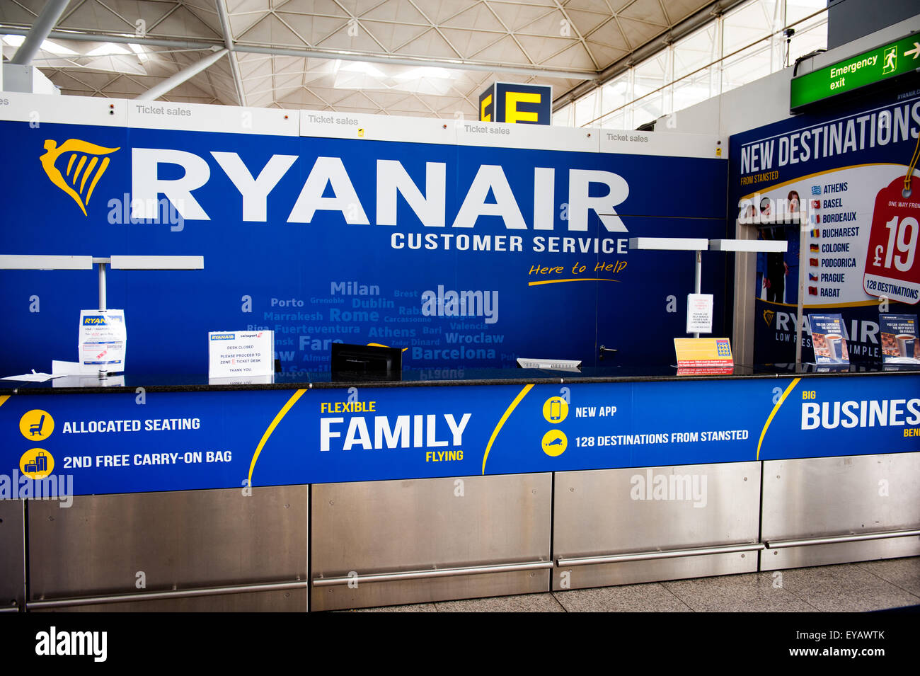 Customer Service Desk Airport Stock Photos amp Customer Service Desk Ryanair Customer Service At Stansted Airport Uk EYAWTK Customer Service Desk Airport